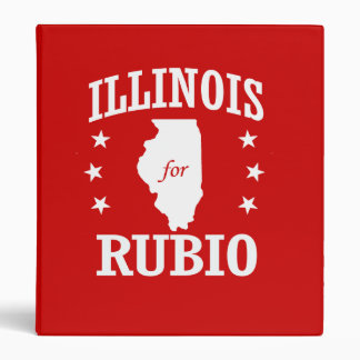 ILLINOIS FOR RUBIO 3 RING BINDERS