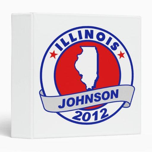 Illinois Gary Johnson 3 Ring Binders