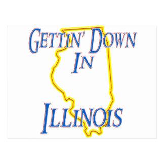 Illinois - Gettin' Down Postcard