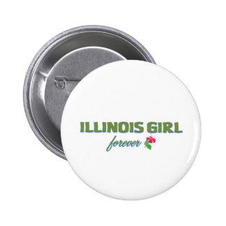 Illinois Girl forever Pinback Button