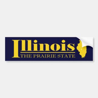 Illinois Gold Bumper Sticker