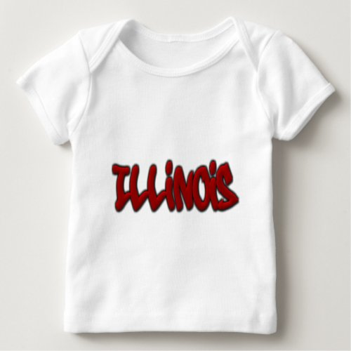 Illinois Graffiti Baby T_Shirt