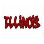 Illinois Graffiti Postcard