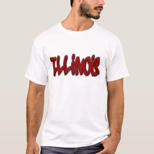 Illinois Graffiti T_Shirt