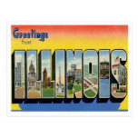 Illinois Greetings From US States Postcard