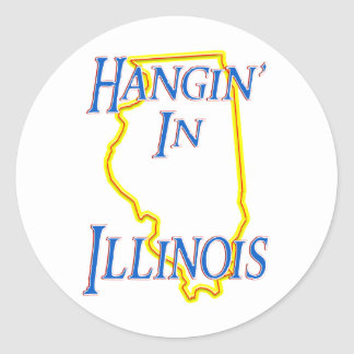 Illinois - Hangin' Classic Round Sticker