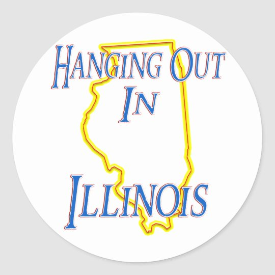 Illinois - Hanging Out Classic Round Sticker