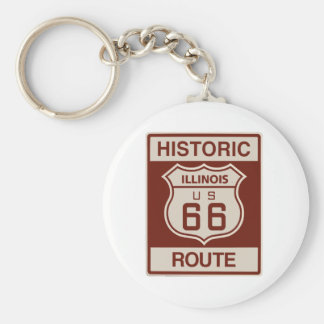 Illinois histórica RT 66 Llavero Redondo Tipo Pin