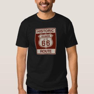 Illinois histórica RT 66 Poleras