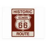 Illinois histórica RT 66 Postal