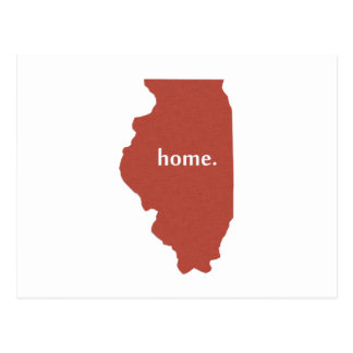 Illinois Home red Postcard