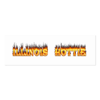 Illinois Hottie fire and flames Business Card