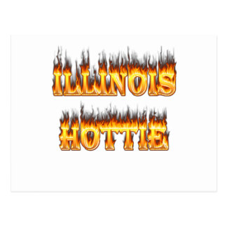 Illinois Hottie fire and flames Postcard