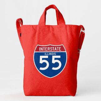 Illinois IL I-55 Interstate Highway Shield - Duck Bag