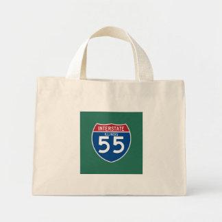 Illinois IL I-55 Interstate Highway Shield - Mini Tote Bag