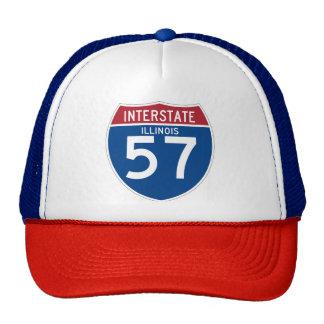 Illinois IL I-57 Interstate Highway Shield - Trucker Hat