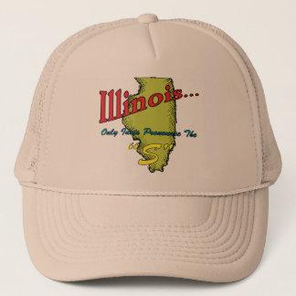 "Illinois IL Motto ~ Only Idiots Pronounce The ""S"" Trucker Hat"