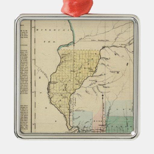 Illinois in 1822 metal ornament