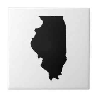Illinois in Black and White Tiles