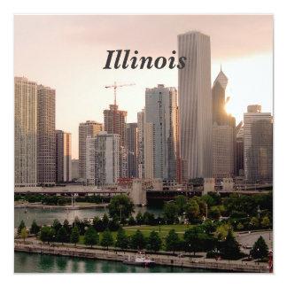 Illinois 5.25x5.25 Square Paper Invitation Card