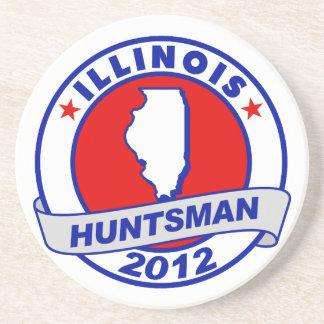 Illinois Jon Huntsman Drink Coaster