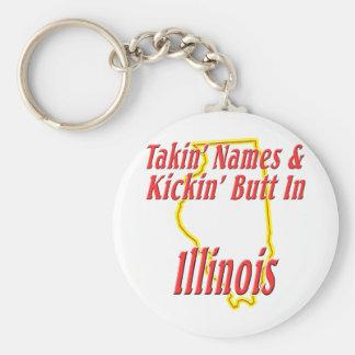 Illinois - Kickin' Butt Keychain