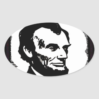Illinois Land of Lincoln Oval Stickers