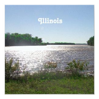 Illinois Landscape 5.25x5.25 Square Paper Invitation Card