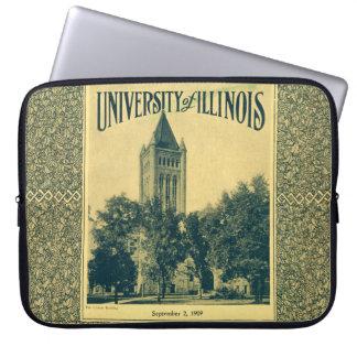 Illinois Library Buidling Vintage Grad Laptop Computer Sleeves