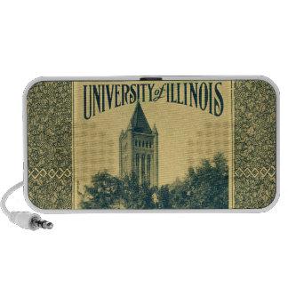 Illinois Library Buidling Vintage Grad iPod Speakers