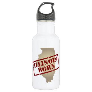 Illinois llevada - sello en mapa