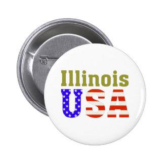 ¡Illinois los E E U U Pin