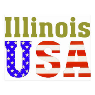 ¡Illinois los E.E.U.U.! Postal