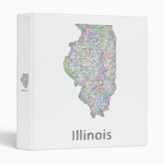 Illinois map 3 ring binder