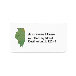 Illinois Map Address Label