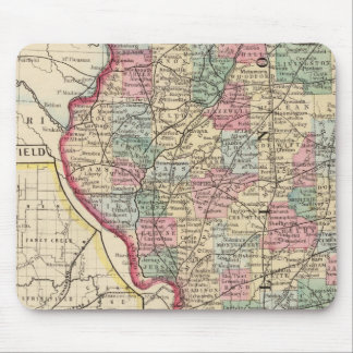 Illinois Map by Mitchell Mouse Pad