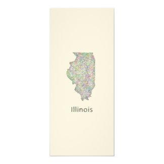 Illinois map card