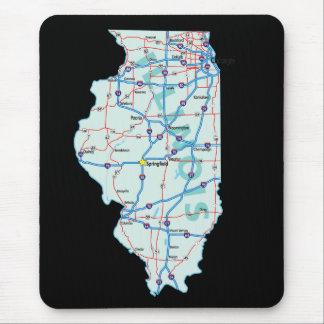 Illinois Map Mousepad