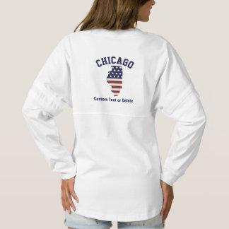 Illinois Map   Patriotic USA Flag   Your City Spirit Jersey