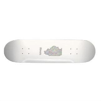 Illinois map skateboard