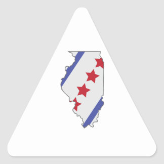 Illinois Map Triangle Sticker