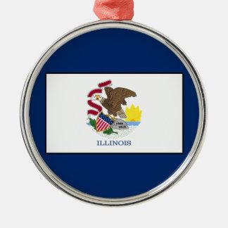 Illinois Metal Ornament