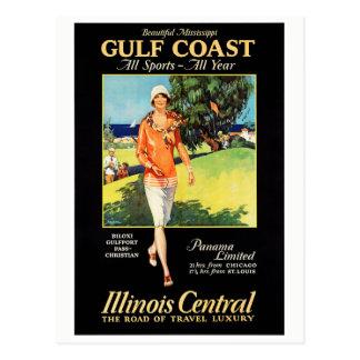Illinois Mississippi Restored Vintage Poster Postcard