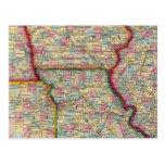 Illinois, Missouri, Iowa, Nebraska And Kansas Postcard