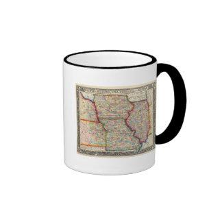 Illinois, Missouri, Iowa, Nebraska y Kansas Taza De Dos Colores