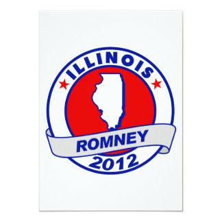 Illinois Mitt Romney 5x7 Paper Invitation Card