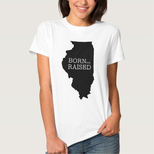 Illinois nacida y aumentada tshirts
