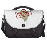 Illinois Native Stamped on Map Bag For Laptop