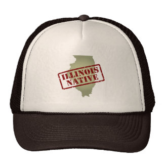 Illinois Native Stamped on Map Trucker Hat
