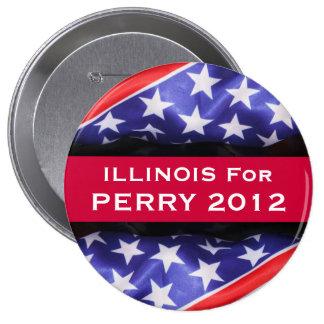 Illinois para el botón de PERRY 2012 Pin